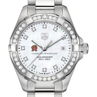 Maryland Women's TAG Heuer Steel Aquaracer with MOP Diamond Dial & Diamond Bezel