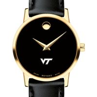 Virginia Tech Women's Movado Gold Museum Classic Leather