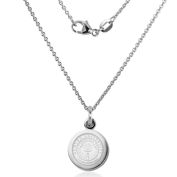 Auburn Sterling Silver Necklace with Sterling Charm