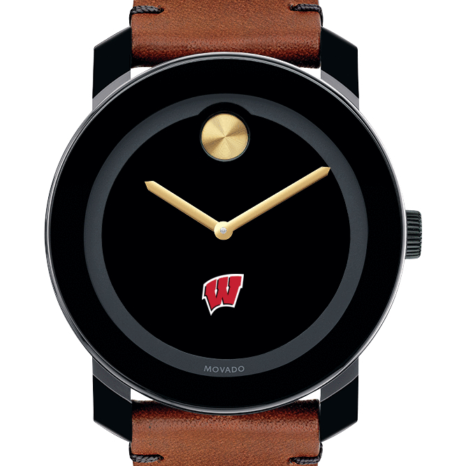 Wisconsin Men's Movado BOLD with Brown Leather Strap