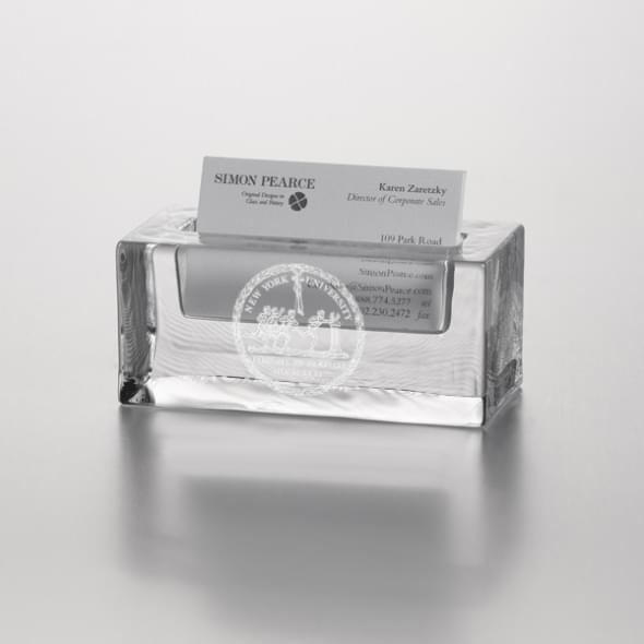 NYU Glass Cardholder by Simon Pearce