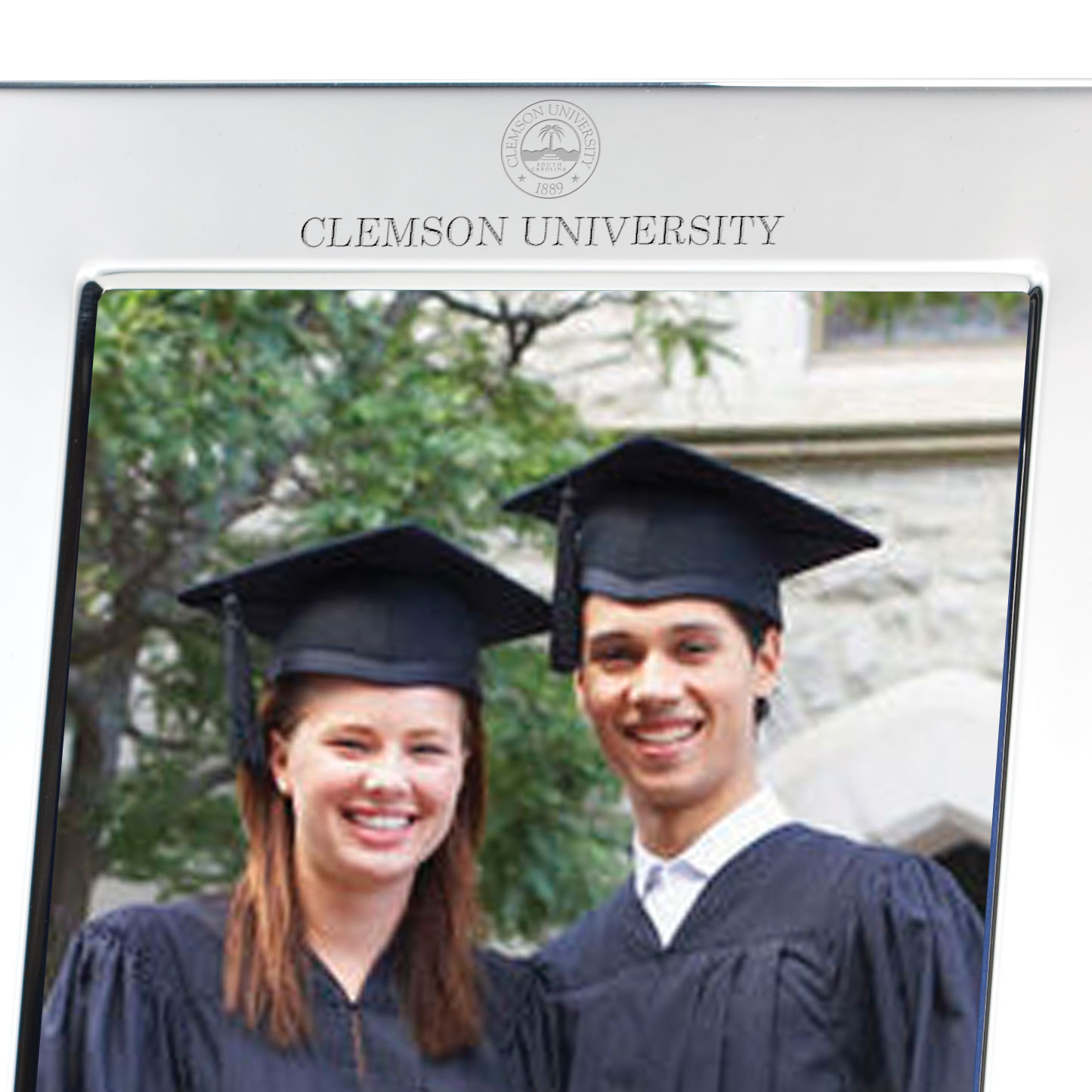 Clemson Polished Pewter 5x7 Picture Frame At M Lahart Amp Co