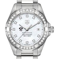 Princeton University Women's TAG Heuer Steel Aquaracer with MOP Diamond Dial & Diamond Bezel
