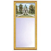 Naval Academy Eglomise Mirror with Gold Frame