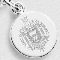 Navy Sterling Silver Charm