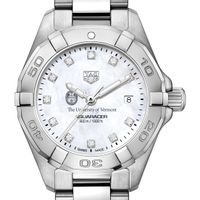 UVM Women's TAG Heuer Steel Aquaracer with MOP Diamond Dial
