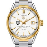Texas A&M Men's TAG Heuer Two-Tone Carrera with Bracelet
