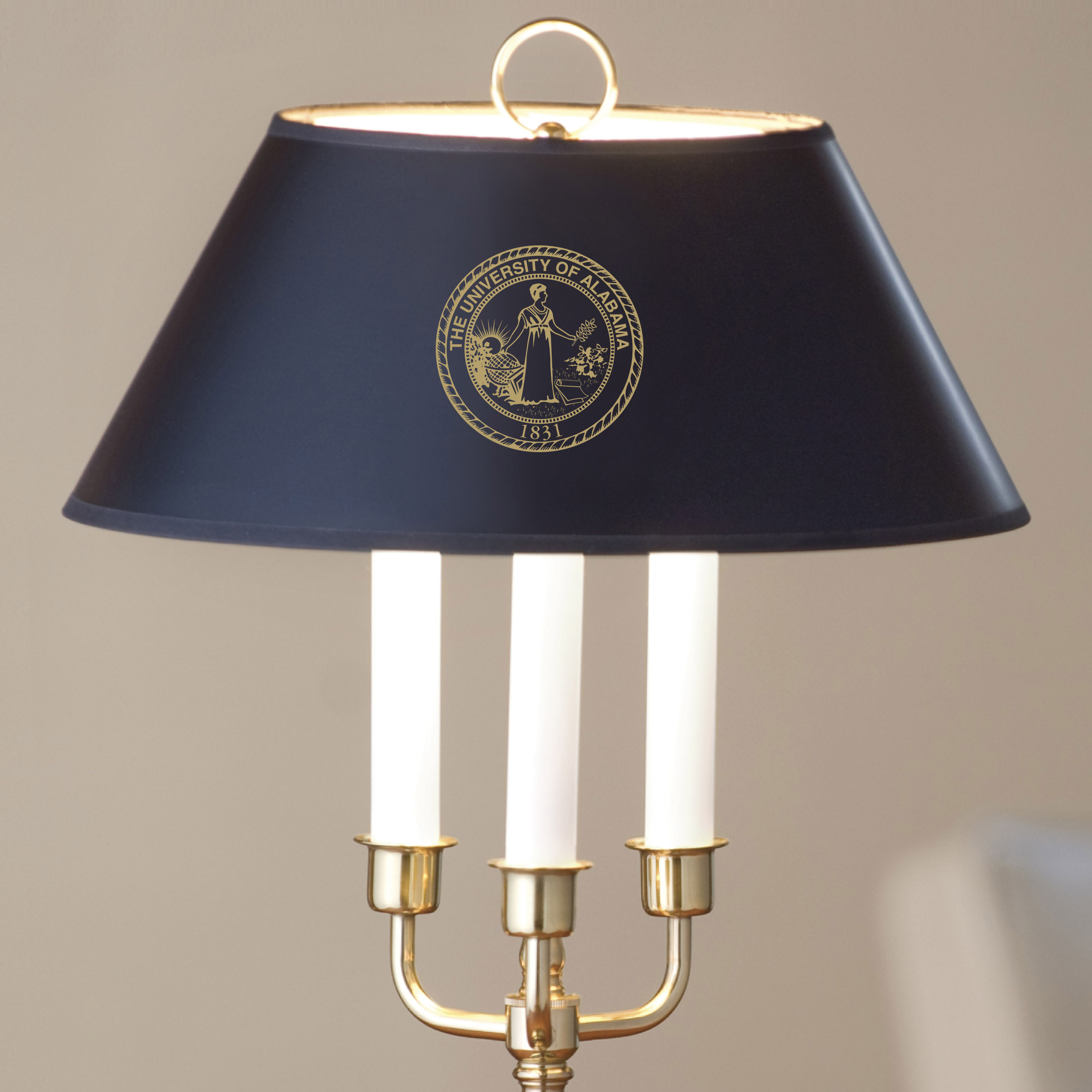 Traditional Alabama Lamp in Brass and Marble