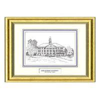 James Madison Black Ink Gold Frame