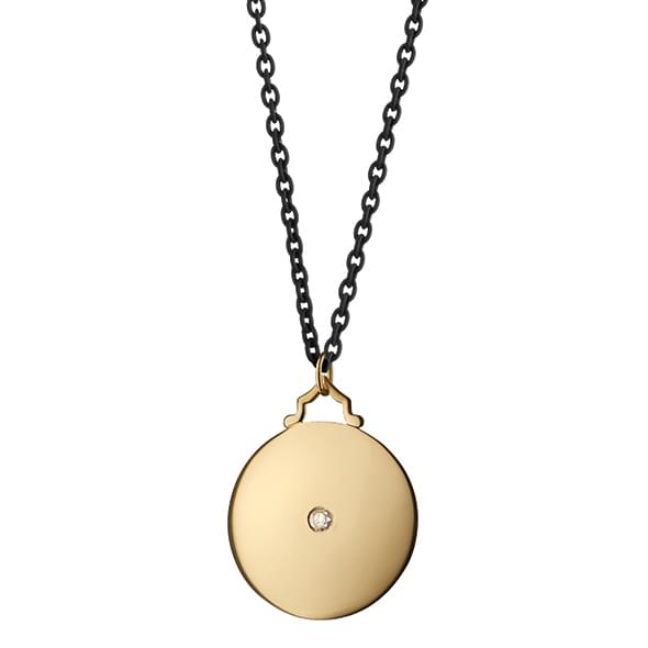 Alabama Monica Rich Kosann Round Charm in Gold with Stone