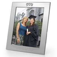 TCU Polished Pewter 8x10 Picture Frame