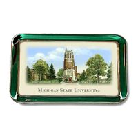 Michigan State Eglomise Paperweight