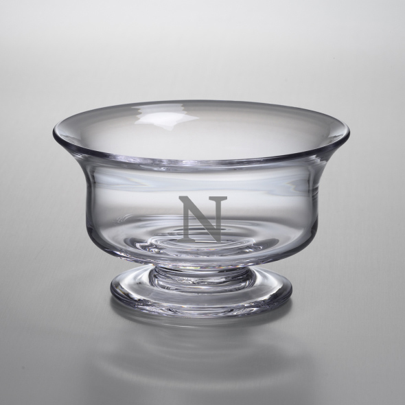 Northwestern Medium Glass Presentation Bowl by Simon Pearce