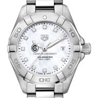 Clemson Women's TAG Heuer Steel Aquaracer with MOP Diamond Dial