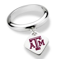 Texas A&M University Sterling Silver Ring with Sterling Tag
