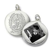 Georgetown Monica Rich Kosann Round Charm in Silver