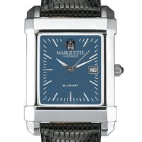 Marquette Men's Blue Quad Watch with Leather Strap