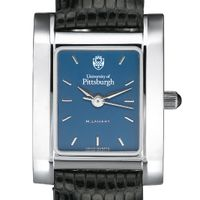 Pittsburgh Women's Blue Quad Watch with Leather Strap