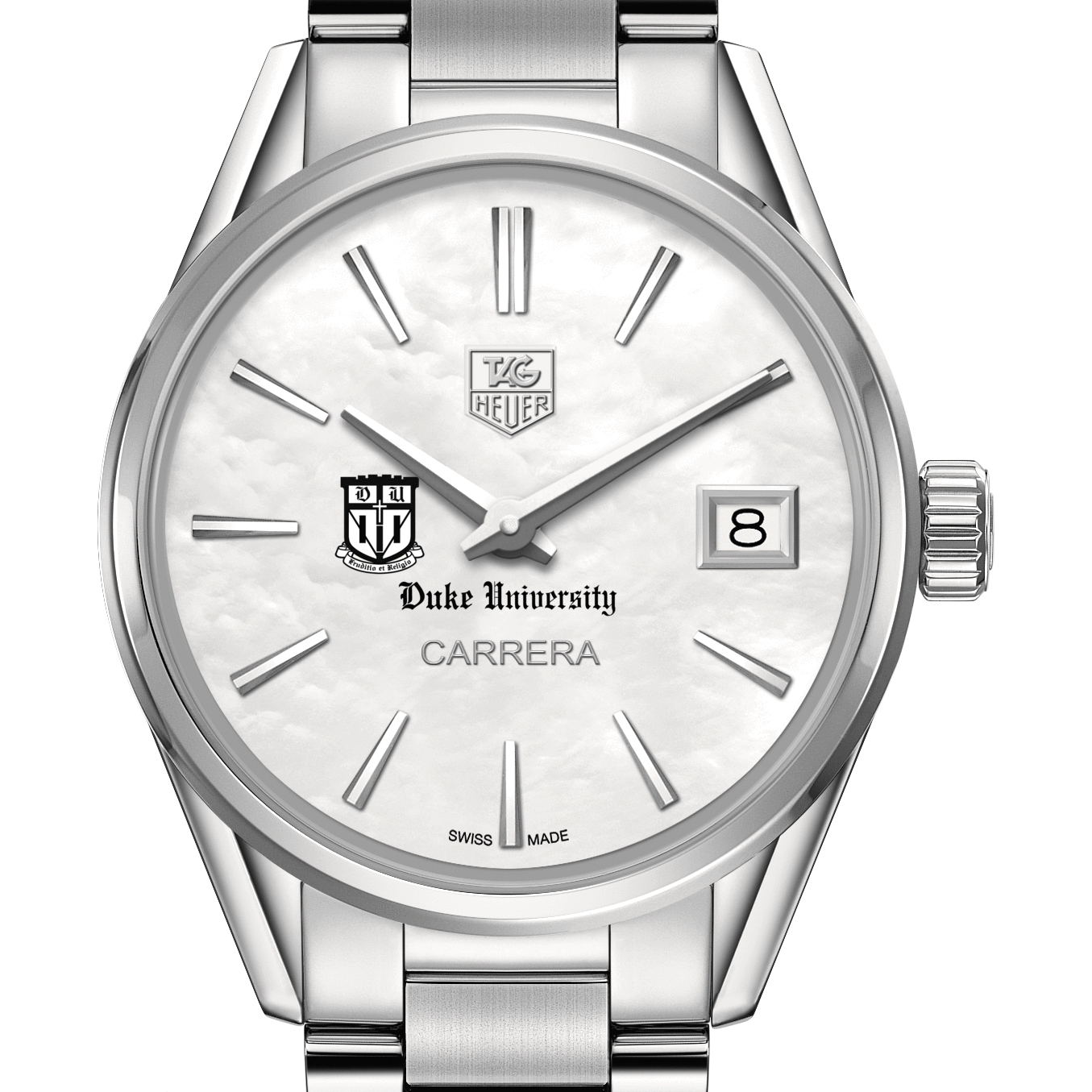 Duke TAG Heuer Watches Duke Women s TAG Heuer Steel Carrera with MOP Dial University of Utah Geography