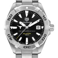 Texas Men's TAG Heuer Steel Aquaracer with Black Dial