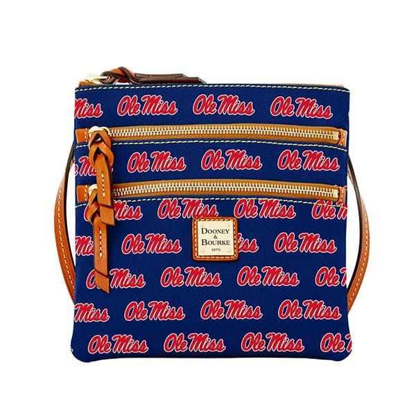 Ole Miss Dooney & Bourke Triple Zip Bag