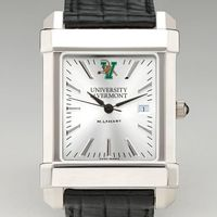 UVM Men's Collegiate Watch with Leather Strap