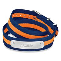 University of Virginia Double Wrap NATO ID Bracelet