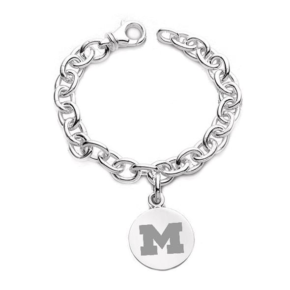 Michigan Sterling Silver Charm Bracelet Image-1