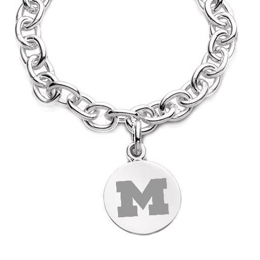 Michigan Sterling Silver Charm Bracelet Image-2