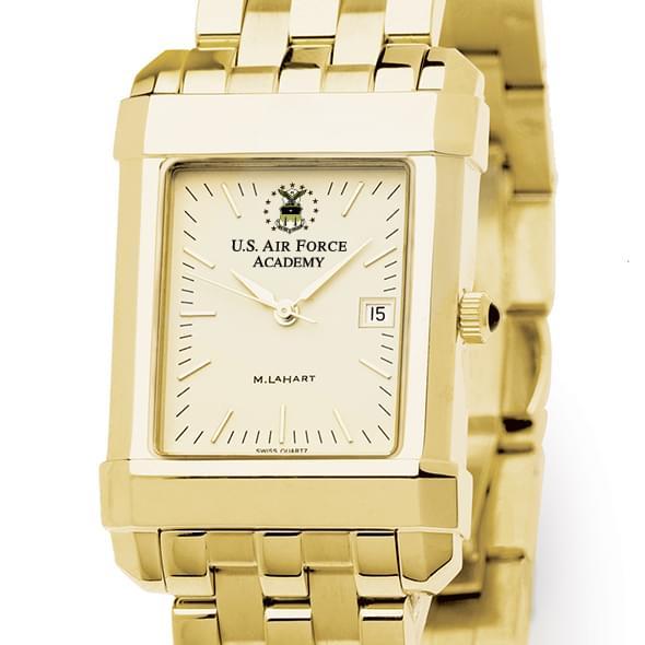 USAFA Men's Gold Quad Watch with Bracelet