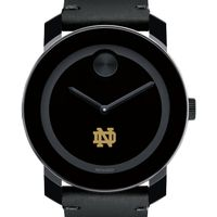Notre Dame Men's Movado BOLD with Leather Strap