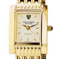 Johns Hopkins Women's Gold Quad Watch with Bracelet