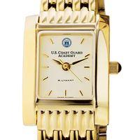 USCGA Women's Gold Quad Watch with Bracelet