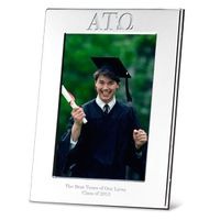 Alpha Tau Omega Polished Pewter 4x6 Picture Frame Image-1 Thumbnail