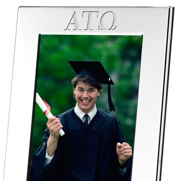 Alpha Tau Omega Polished Pewter 4x6 Picture Frame