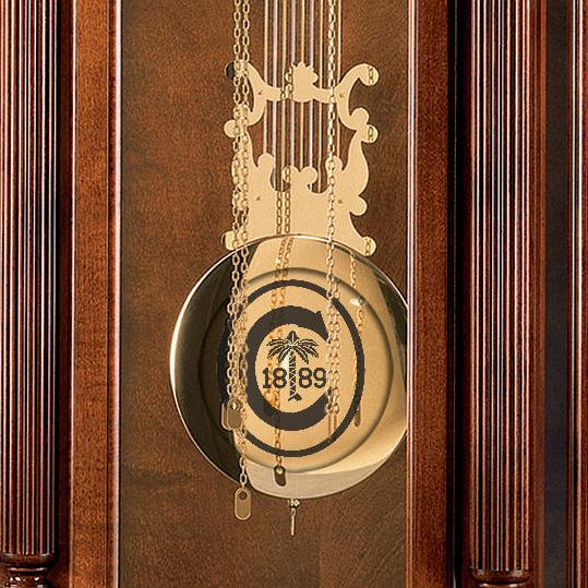 clemson howard miller grandfather clock