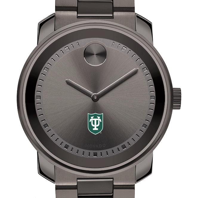 Tulane University Men's Movado BOLD Gunmetal Grey