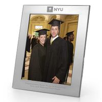 NYU Polished Pewter 8x10 Picture Frame