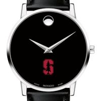 Stanford Men's Movado Museum with Leather Strap