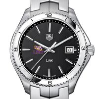 LSU TAG Heuer Men's Link Watch with Black Dial