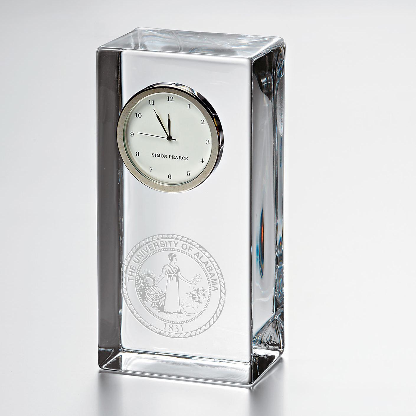 Alabama Tall Desk Clock by Simon Pearce