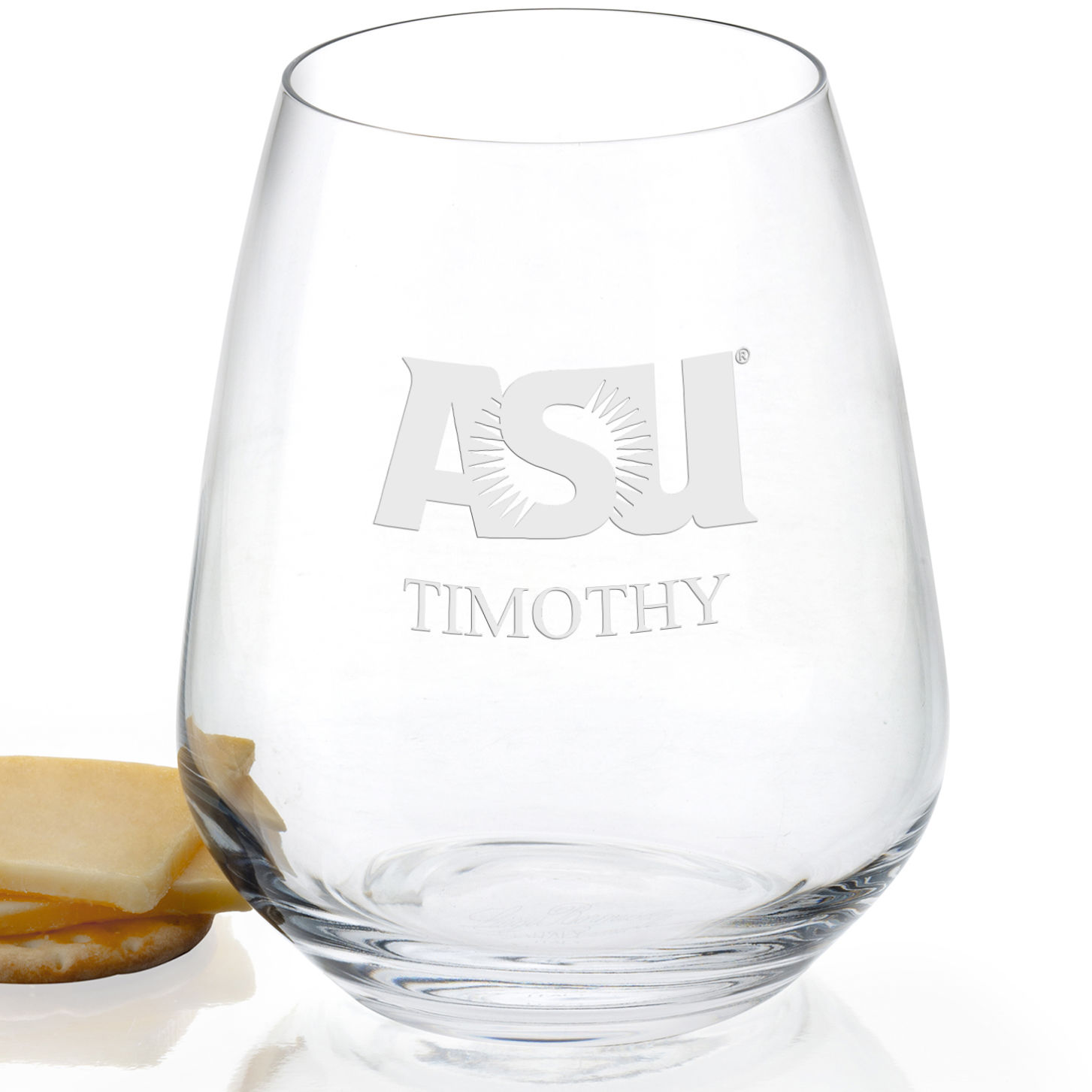 Arizona State Stemless Wine Glasses - Set of 4