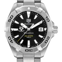Wharton Men's TAG Heuer Steel Aquaracer with Black Dial