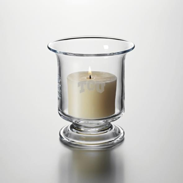 TCU Glass Hurricane Candleholder by Simon Pearce