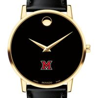 Miami University Men's Movado Gold Museum Classic Leather