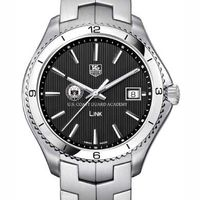 USCGA TAG Heuer Men's Link Watch with Black Dial