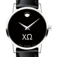 Chi Omega Women's Movado Museum with Leather Strap