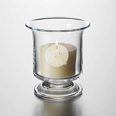 UNC Glass Hurricane Candleholder by Simon Pearce
