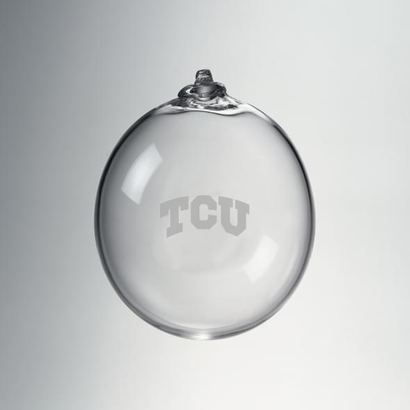 TCU Glass Bauble Ornament by Simon Pearce