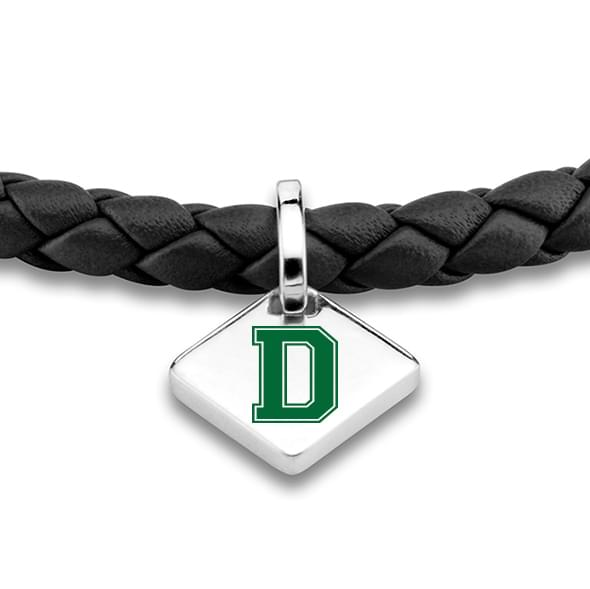 Dartmouth Leather Bracelet with Sterling Silver Tag - Black